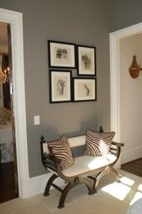 For hallway popular interior paint colors grey interior paint colors - Fotos De Hall De Entrada