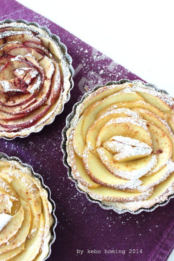 Apfelrosen Tartelettes #apple #tarte #recipe