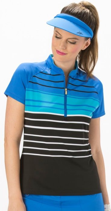 Nancy Lopez Ladies & Plus Size Point Short Sleeve Golf Polo Shirt available at #lorisgolfshoppe