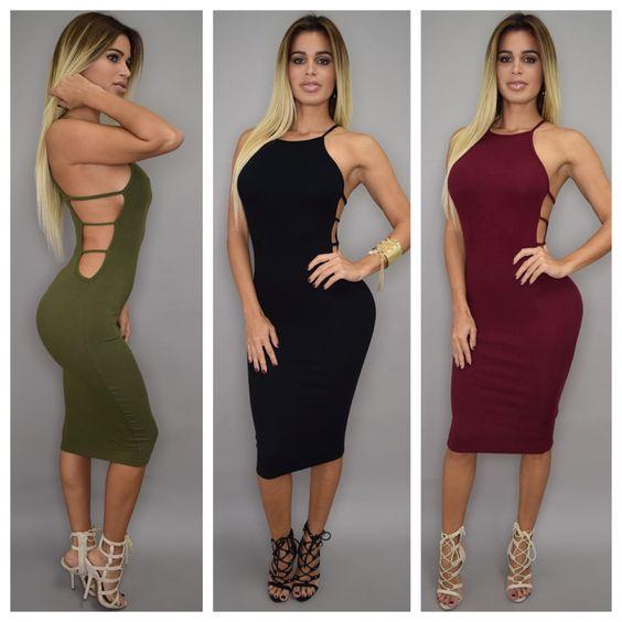 All :: Dresses :: Nicole Open Side Midi Dress
