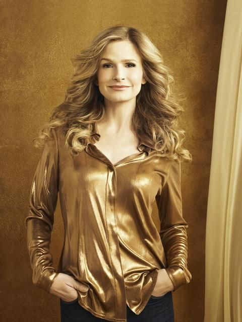 ladies gold silk blouse | Kyra Sedgwick - gold satin blouse ...