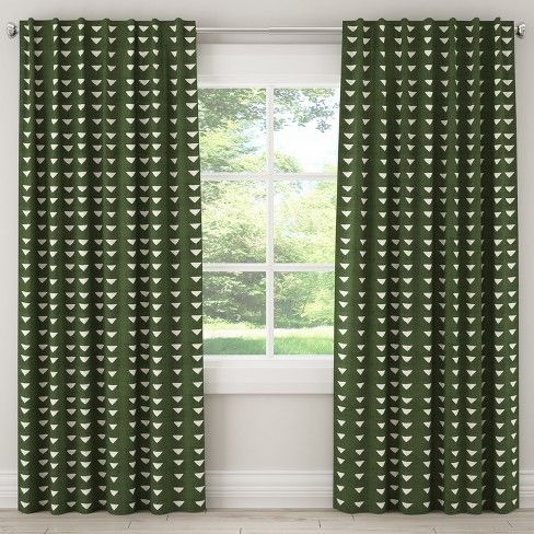 Unlined Triangle Light Filtering Curtain Panel Skyline Furniture