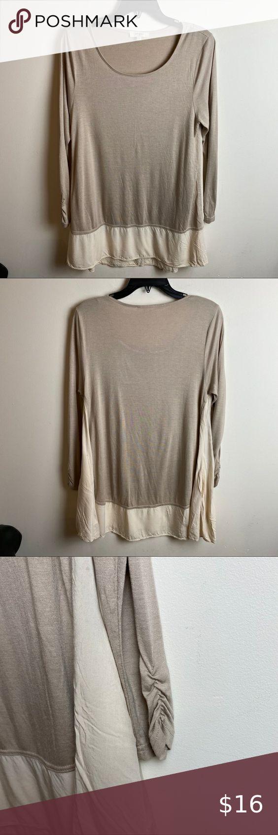 NWT Knox Rose Womens Side Tie Oil Wash French Terry Crewneck Sweatshirt Grey