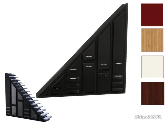 ShinoKCR's Under The Stairs - Dresser for Wall Size 3 Eboni