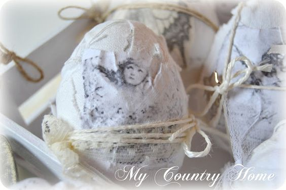 DIY ... Beautiful Vintage Easter Eggs Tutorial