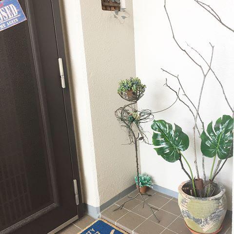 マンション 玄関ポーチ 飾り Instagram Plants Image