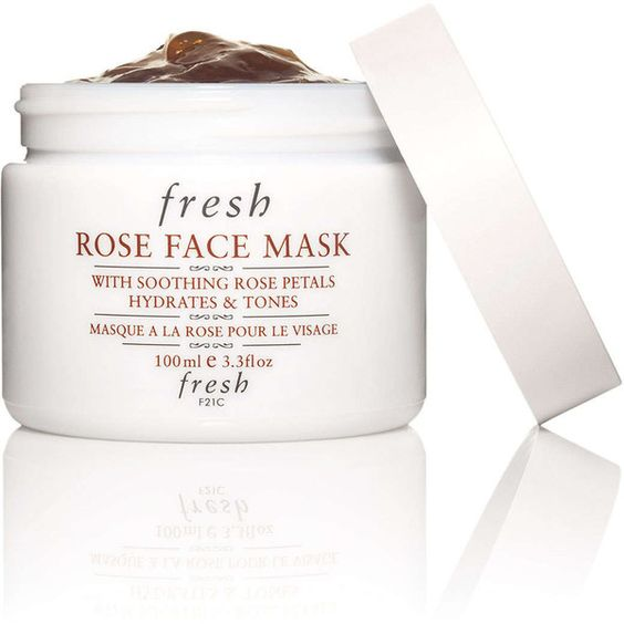 Fresh Rose Face Mask (€55) ❤ liked on Polyvore featuring beauty products, skincare, face care, face masks, facial mask, moisturizing face mask, moisturizing mask, hydrating face mask and fresh mask