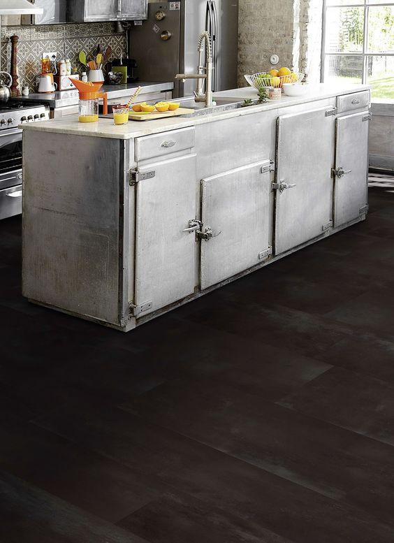 Pvc vloer tegels betonlook. geschikt voor alle ruimten zoals de ...