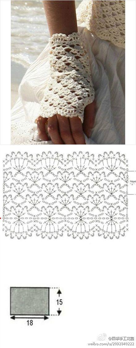 Patrones Crochet: Patron Crochet Guantes Sin Dedos