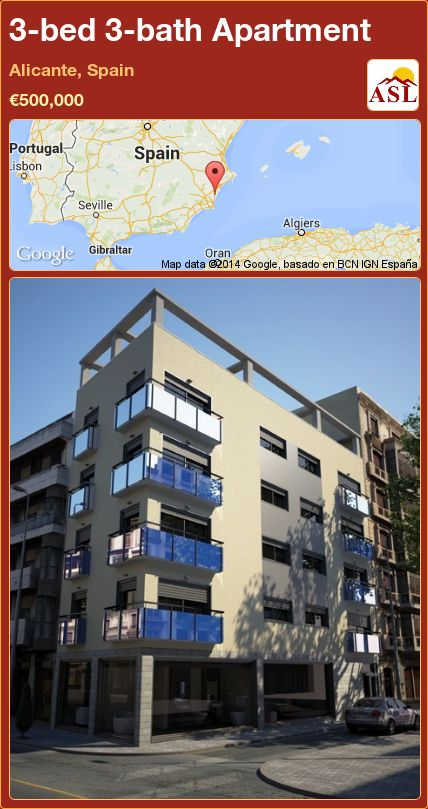 3-bed 3-bath Apartment in Alicante, Spain ►€500,000 #PropertyForSaleInSpain