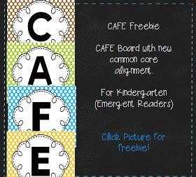 Kopy Kat Kinders: CAFE Freebie