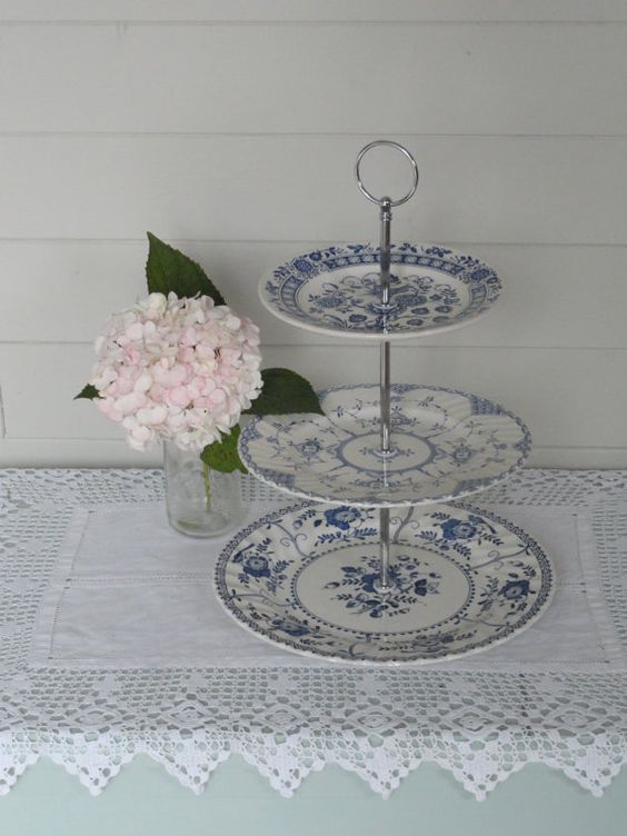 3 tier vintage cake stand made with by threetiersvintage on Etsy, £38.00
