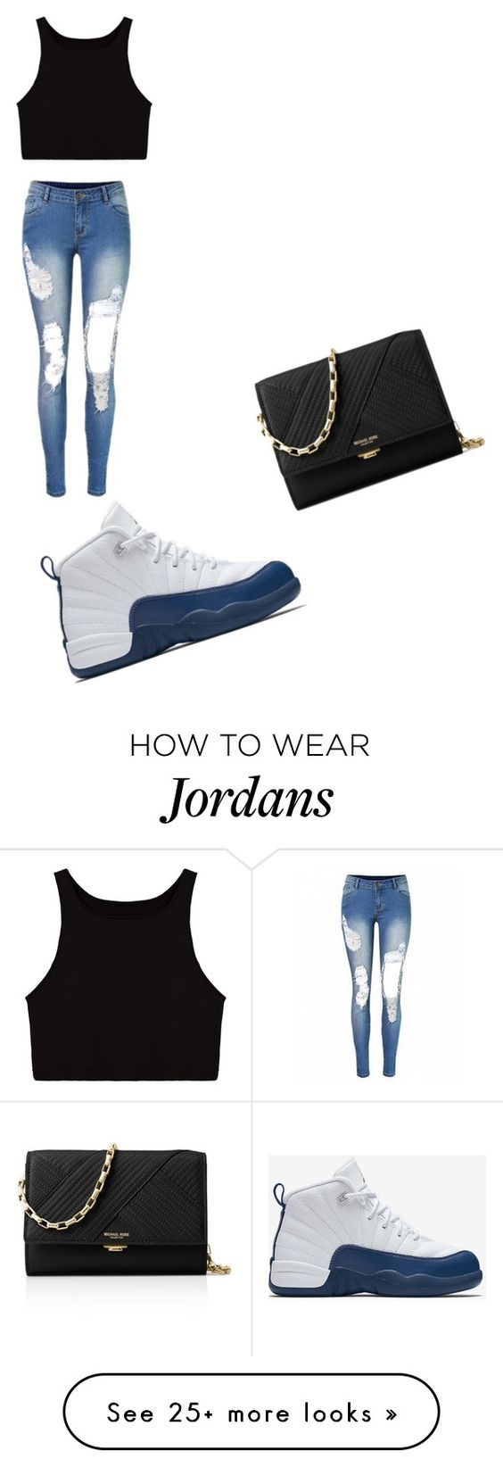 """""""Cute I want this outfit❤️"""" by dneal2000 on Polyvore featuring NIKE and Michael Kors"""