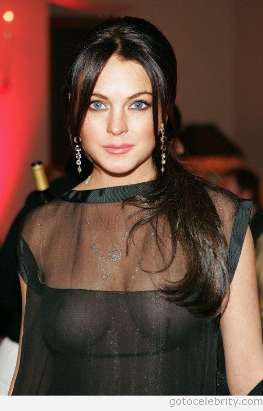 Lindsay Lohans Nipples 41