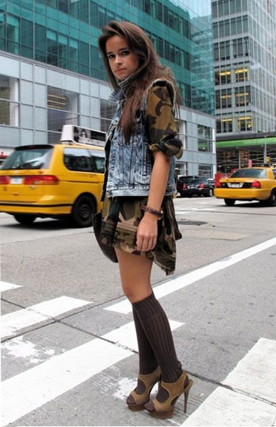 Camuflando tendencias: Militar por las calles http://fashionbloggers.pe/raisa-hurtado/camuflando-tendencias