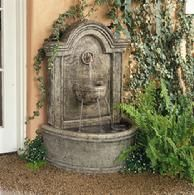 Tuscan-style Wall Fountain - To put on Xanadu in the south yard.
