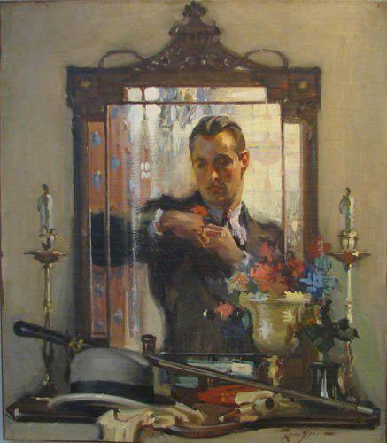 Elegant Man in mirror