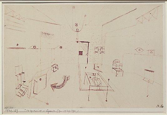 Phantom Perspectiva  Paul Klee (alemán (nacido en Suiza), Münchenbuchsee 1879-1940 Muralto-Locarno)  Fecha: 1920 Medio: Tinta sobre papel Dimensiones: H. 7-3/8, 11-1/2 pulgadas W. (18,6 x 28,3 cm.) Clasificación: Dibujos Línea de crédito: La Colección Berggruen Klee, 1984