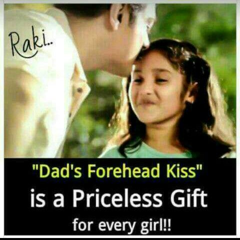 Dad S Kiss Is The Biggest Ever Gift For Me Love U Abba Jaan Mom And Dad Quotes Father Love Quotes Dad Quotes From Daughter