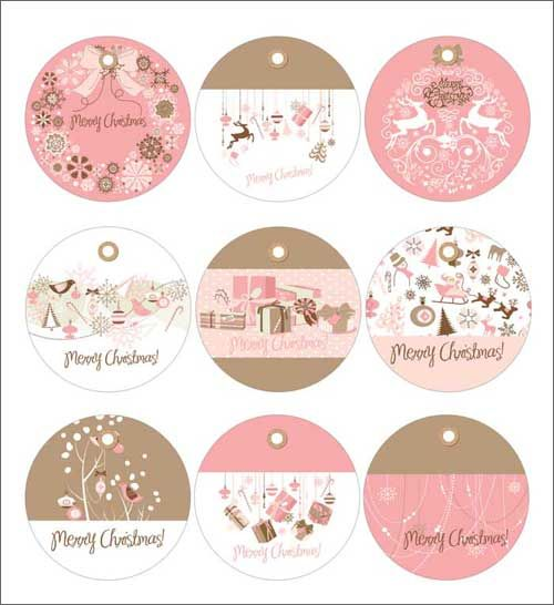 free printable christmas gift tags: