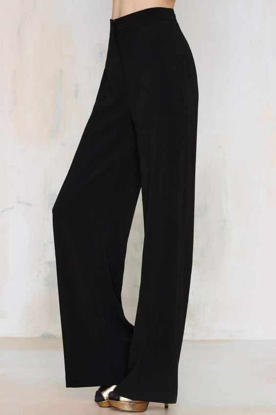Nasty Gal You're the Boss Wide Leg Pants - Pants | Wide Leg   ...