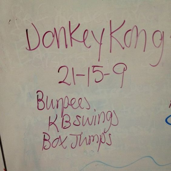 Donkey Kong WOD - this is awesome. @Graham Jenkin Jenkin Lutz