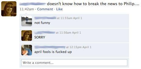 Yes!  Let the April Fools Joke begin!