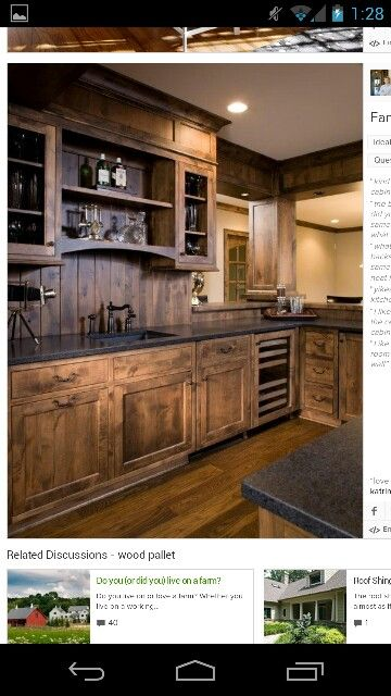 Kitchen cabinets from pallets dream home pinterest for Kitchen units made from pallets