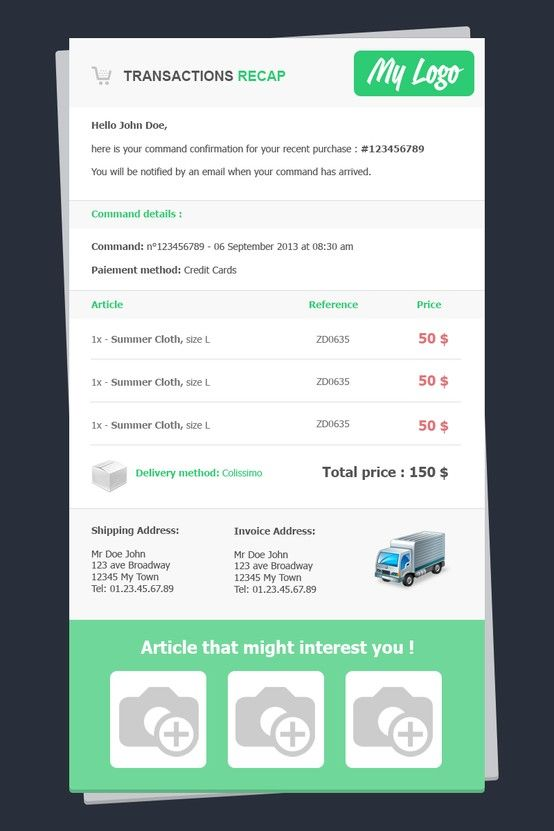 download email invoice template | rabitah, Invoice templates