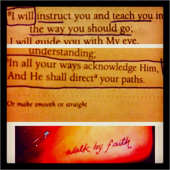 Psalm 32:8  Proverbs 3:6