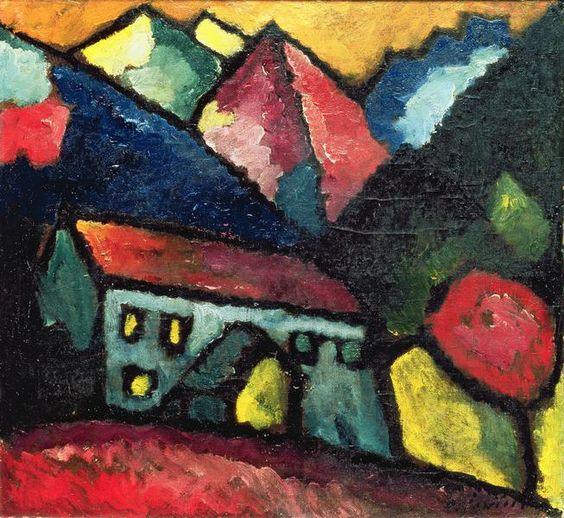 Alexej von Jawlensky - Ein Haus im Gebirge.......this is great inspiration for a Sue Dove-type embroidery