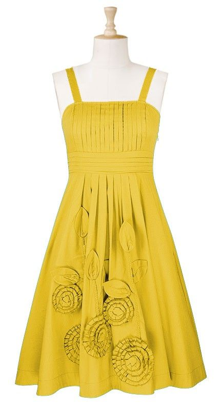 cute yellow dress the detail matches your dress