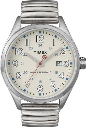 Timex Damen-Armbanduhr Analog Edelstahl beschichtet T2N309 - http://uhr.haus/timex/timex-damen-armbanduhr-analog-edelstahl-t2n309