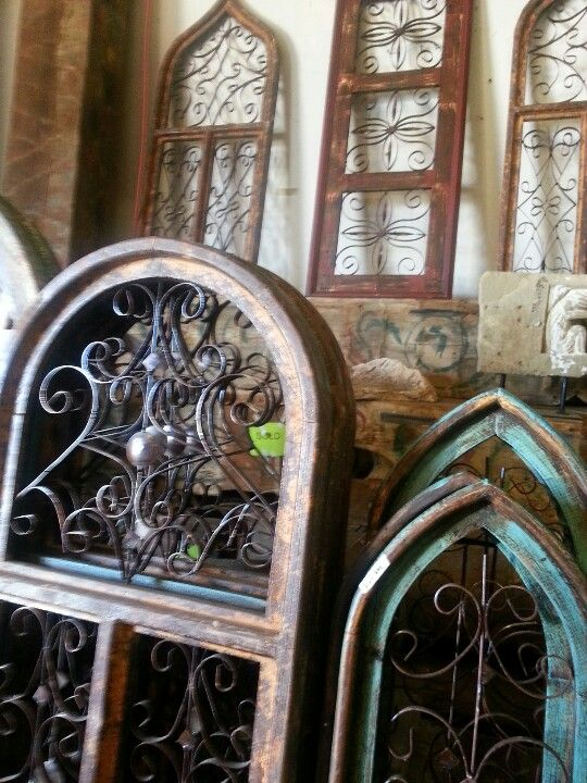 Architectural Salvage Arched Windows And Window Frames On