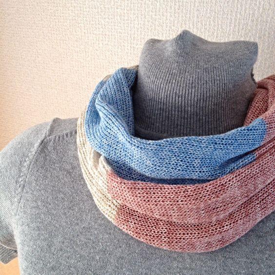 肌に優しい天然素材、コットンとリネンの糸で編んだ春夏のスヌードです。素材のさらっとした感じを最大限に引き出す為、編み機で柔らかく編みました(^^)ジャケットや...|ハンドメイド、手作り、手仕事品の通販・販売・購入ならCreema。