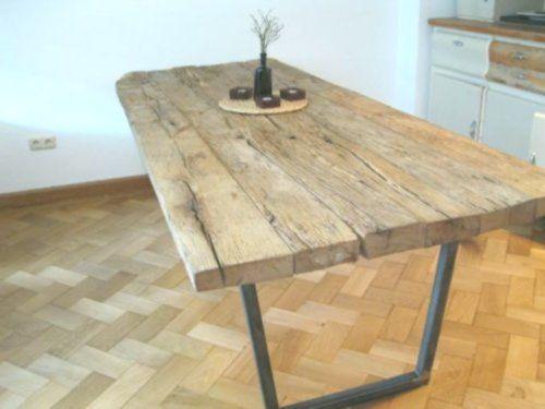 Einzelstuck Holz Tisch Esstisch Aus Alten Eichenbalken 2 5m