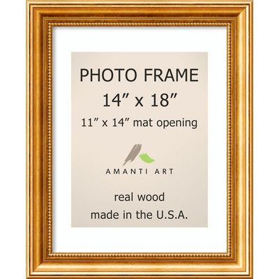 astoria grand hendry gold picture frame size 11 x 14