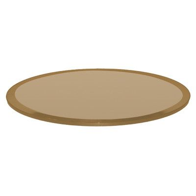 Fab Glass And Mirror Round Beveled Tempered Glass Table Top Finish: