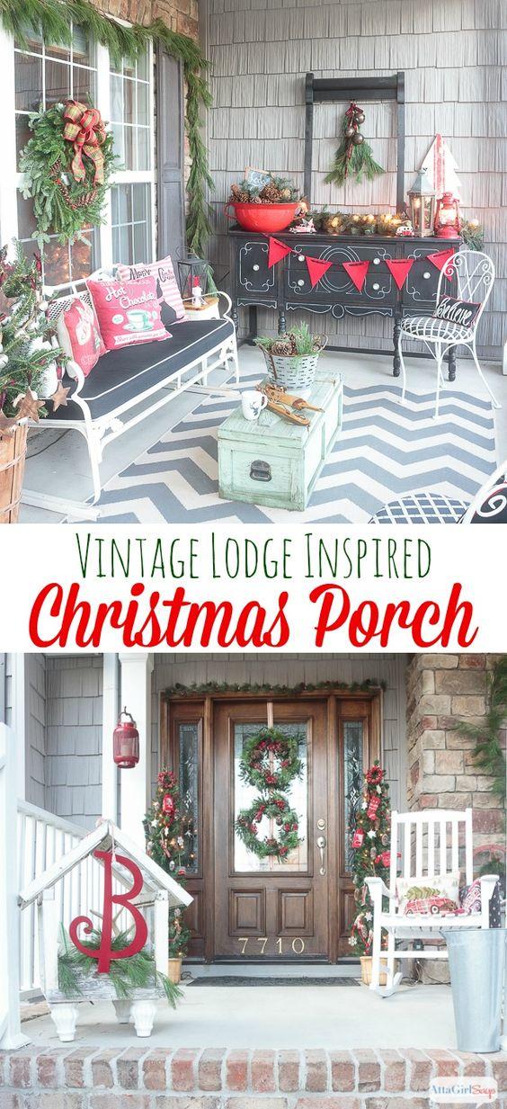 Vintage Farmhouse Christmas Home Tours