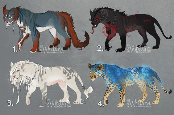 Fantasy feline adoptables - auction CLOSED by Whiluna
