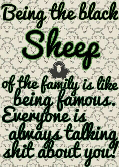 Black sheep of the family                                                                                                                                                      More: