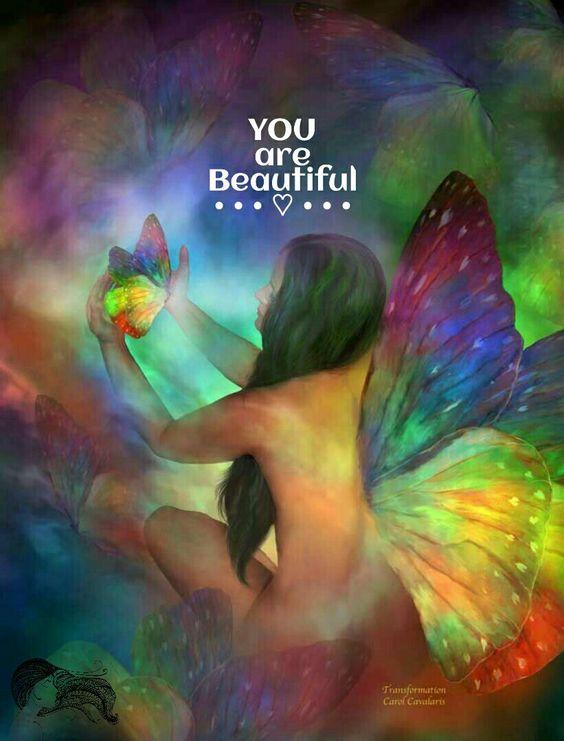 YOU are Beautiful ༺♡༻ [Fabulous art of Carol Cavalaris, Transformation]