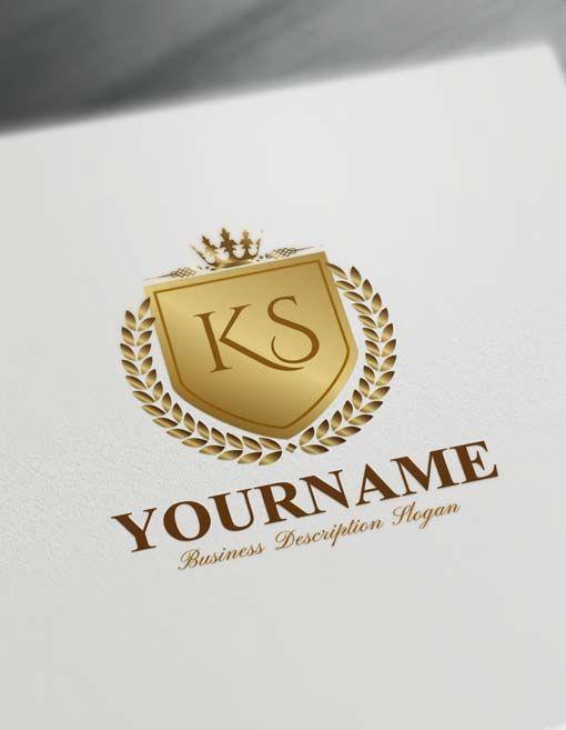 Luxurious Heraldic Logo Design Free Vintage Heraldry Logo Maker Logo Design Free Initials Logo Design Monogram Logo Design