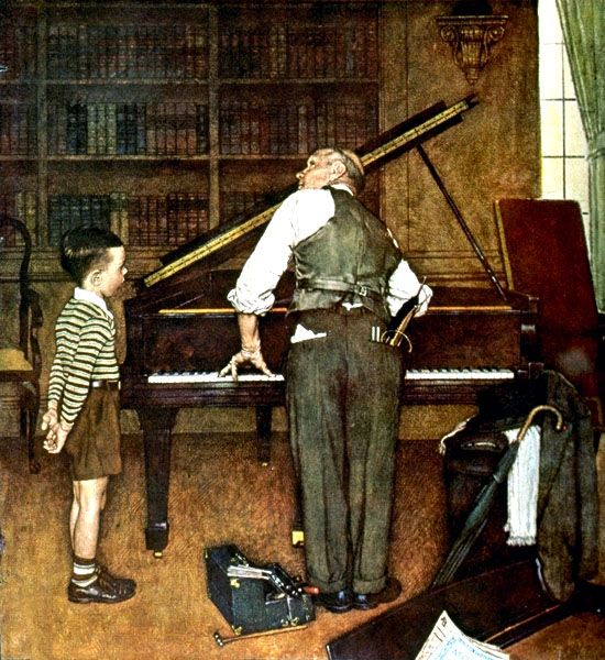 """National Art Appreciation Week. Sept 9-13 2013. Norman Rockwell """"The Piano Tuner"""" (1947)"""