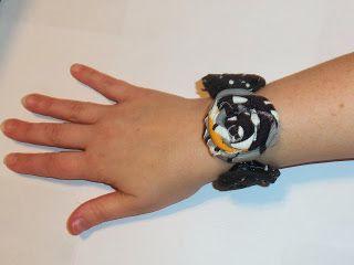 live. love. scrap.: Handmade Holiday Gift Idea DIY fabric rosette bracelet