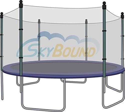 SkyBound Trampoline Enclosure Safety Nets for Trampolines with Straight Poles (Poles Sold Separately) (12 Ft. Fame Size, 6 Poles) - http://www.exercisejoy.com/skybound-trampoline-enclosure-safety-nets-for-trampolines-with-straight-poles-poles-sold-separately-12-ft-fame-size-6-poles/fitness/