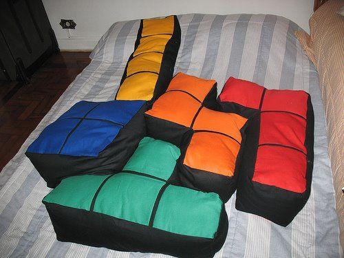 Tetris Pillows - The boyfriend would love these!