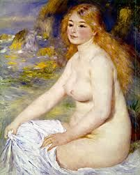 blonde bather 1881 by renoir