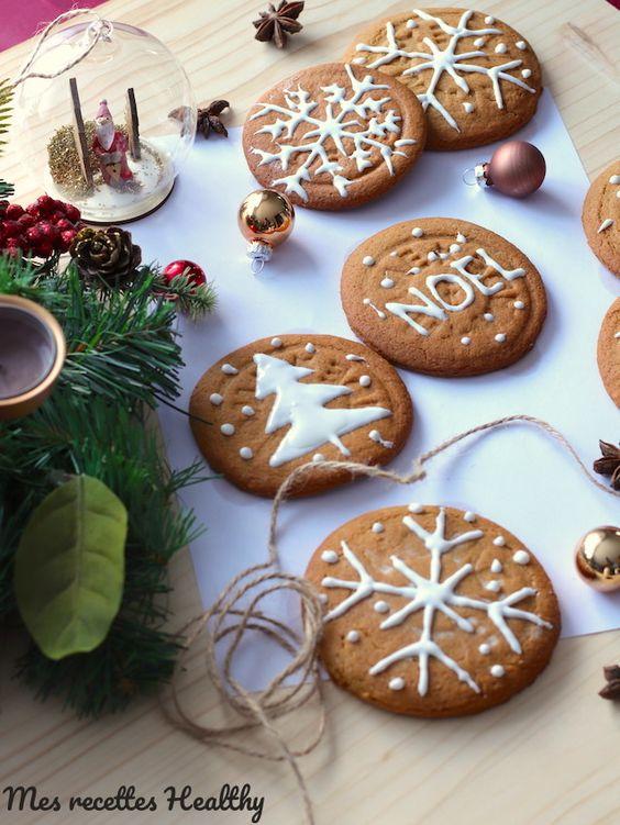 Biscuit sablé de Noël aux épices sans beurre | Mes recettes Healthy