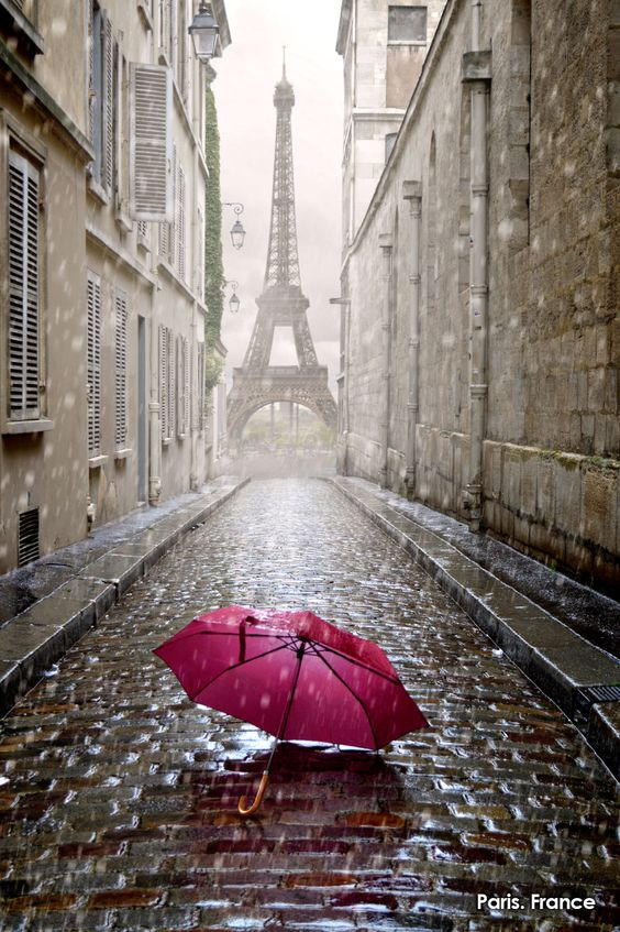 France in the rain.